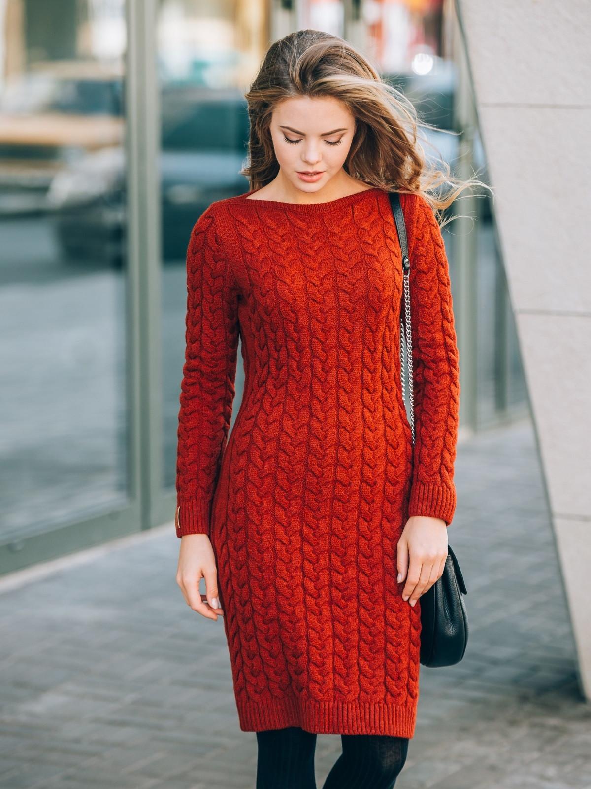 Модели платья вязаные фото
