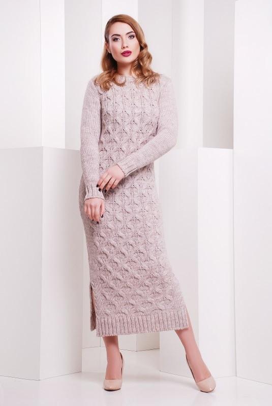 Купить теплое вязаное платье в интернете